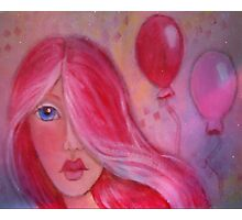 Whimsy Girl with Red Hair Photographic Print