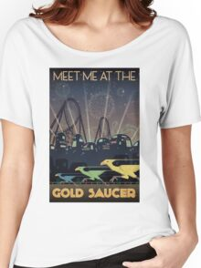 Final Fantasy VII Gold Saucer Travel Poster Women's Relaxed Fit T-Shirt