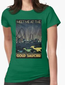 Final Fantasy VII Gold Saucer Travel Poster Womens Fitted T-Shirt