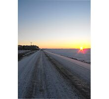 Sunrise over the Winter Prairies Photographic Print
