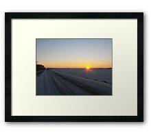 Winter Dawn over the Prairies Framed Print
