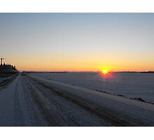 Winter Dawn over the Prairies Photographic Print