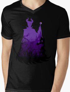 Midnight Maleficent Mens V-Neck T-Shirt