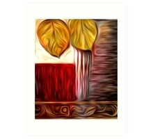 Abstract Leaf Oil Painting #3 Art Print