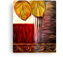 Abstract Leaf Oil Painting #3 Canvas Print