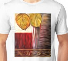 Abstract Leaf Oil Painting #3 Unisex T-Shirt