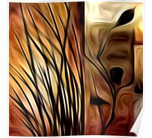 Abstract Nature Oil Painting #1 Poster