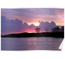SUNRISE AT THE INLET Poster