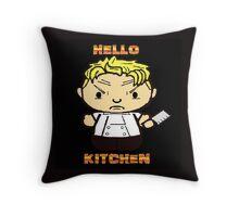 Hello Kitchen 2 Throw Pillow