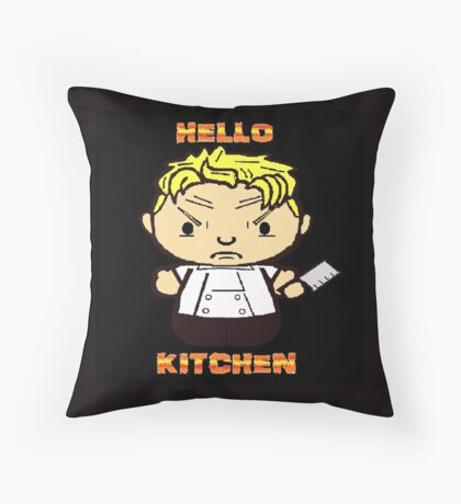 Hello Kitchen 2 Throw Pillow