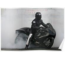 Smokey  Bike Burn Out Poster