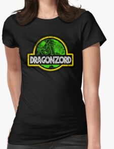 Jurassic Power Green Womens Fitted T-Shirt