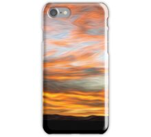 Afghanistan Sunrise Oil Painting, Sangin District Helmand Province iPhone Case/Skin