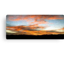 Afghanistan Sunrise Oil Painting, Sangin District Helmand Province Canvas Print