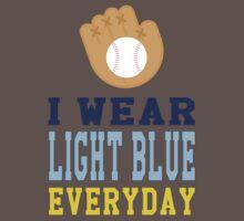 I Wear Light Blue One Piece - Short Sleeve