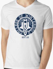 College of Winterhold Est. 1E Mens V-Neck T-Shirt