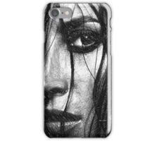Woman Sketch in Black and White iPhone Case/Skin