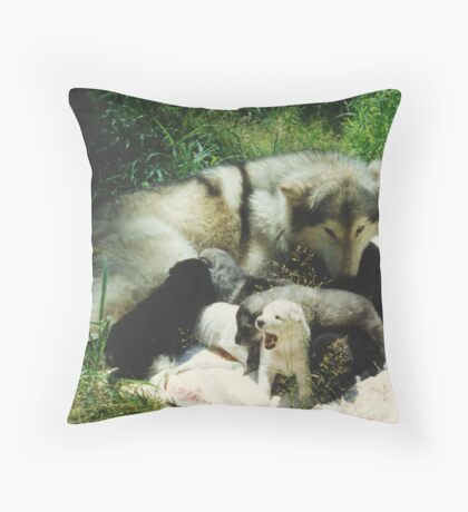 Tundra's Pups Throw Pillow