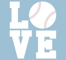 Love Baseball Kids Tee