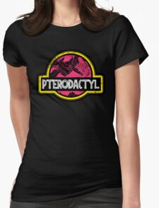 Jurassic Power Pink Womens Fitted T-Shirt