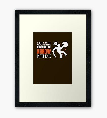 Arrow in the Knee Framed Print