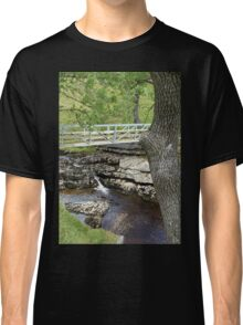 """Bridge Over Calm Water"", North Yorkshire, England Classic T-Shirt"