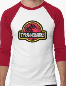 Jurassic Power Red Men's Baseball ¾ T-Shirt