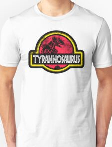 Jurassic Power Red Unisex T-Shirt