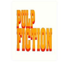 The Pulp Fiction Logo Art Print