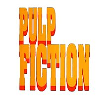 The Pulp Fiction Logo Photographic Print