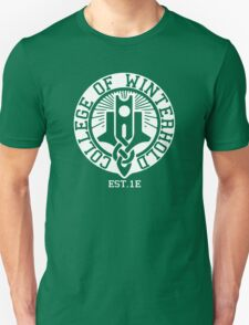 College of Winterhold Est. 1E (white) Unisex T-Shirt