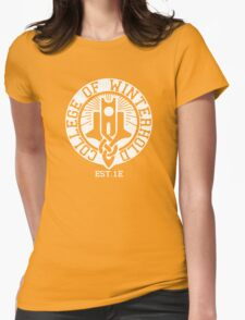 College of Winterhold Est. 1E (white) Womens Fitted T-Shirt