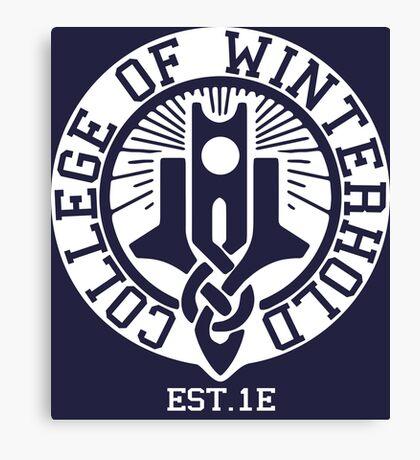 College of Winterhold Est. 1E (white) Canvas Print