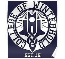College of Winterhold Est. 1E (white) Poster