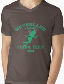 Tinkerbell - Flying Team of Neverland Mens V-Neck T-Shirt