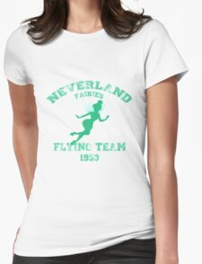 Tinkerbell - Flying Team of Neverland Womens Fitted T-Shirt