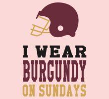 I Wear Burgundy on Sundays Kids Tee