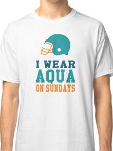 I Wear Aqua on Sundays Classic T-Shirt
