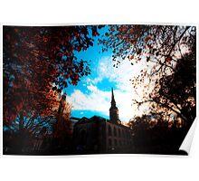 Autumn in St Pauls Square Birmingham Poster