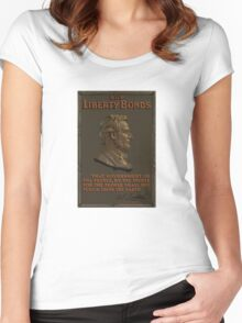 Lincoln Gettysburg Address -- Buy Liberty Bonds  Women's Fitted Scoop T-Shirt