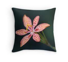 leopard lily Throw Pillow