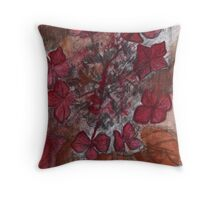 Study in Alizarin and Burnt Siena Throw Pillow