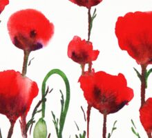 Red Poppies Sticker