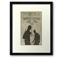 The Last Of Us Game Poster Framed Print