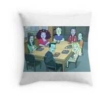 Community Study Group Rick and Morty edition Throw Pillow