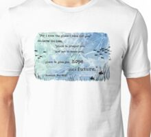 Jeremiah 29:11 Bible Verse Watercolor Painting Unisex T-Shirt