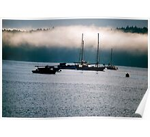 Misty Morning on Cowichan Bay... Poster