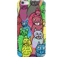 Colorful Cats  iPhone Case/Skin