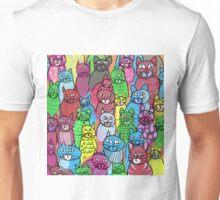 Colorful Cats  Unisex T-Shirt