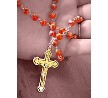 Saying the Rosary Photographic Print